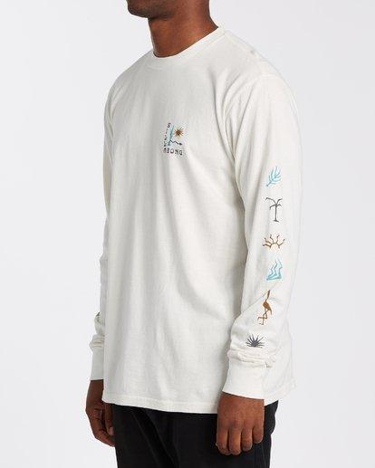 1 Hot Springs Long Sleeve T-Shirt White MT433BHS Billabong