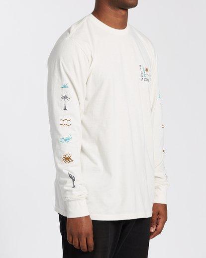 2 Hot Springs Long Sleeve T-Shirt White MT433BHS Billabong