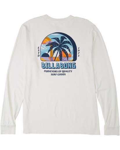 4 Marakesh Long Sleeve T-Shirt White MT433BMA Billabong