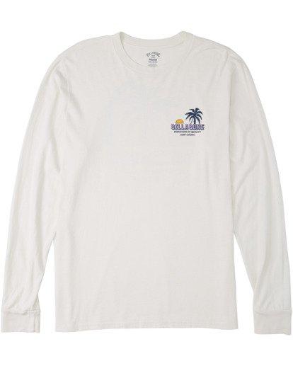 3 Marakesh Long Sleeve T-Shirt White MT433BMA Billabong