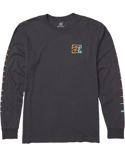 0 Oscura Long Sleeve T-Shirt Grey MT43SBOS Billabong