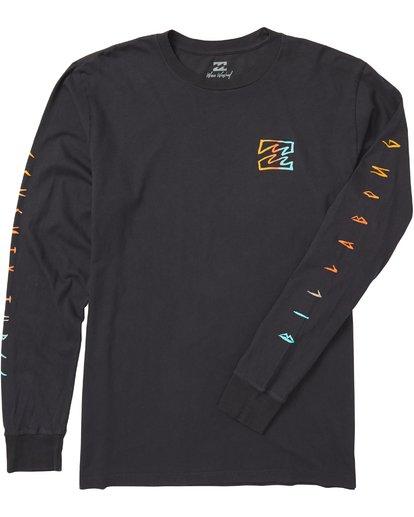 1 Oscura Long Sleeve T-Shirt Grey MT43SBOS Billabong