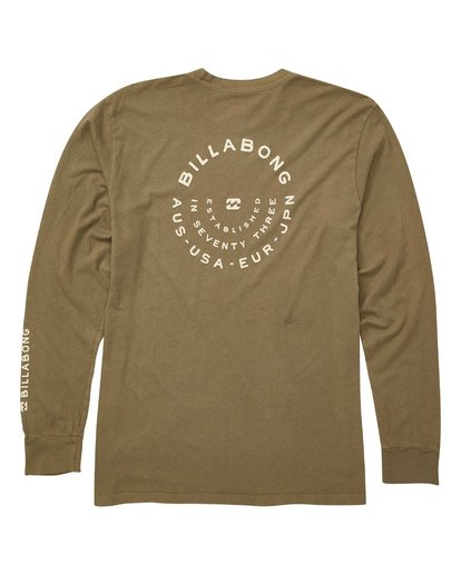 1 Helm Long Sleeve Tee Green MT43TBHE Billabong