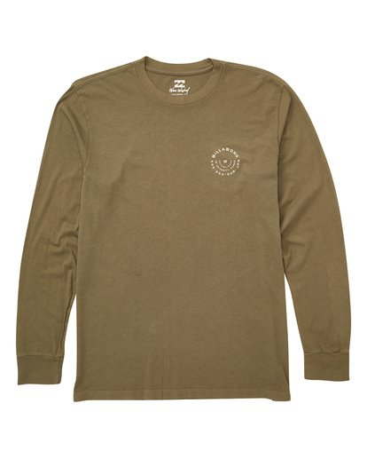0 Helm Long Sleeve Tee Green MT43TBHE Billabong