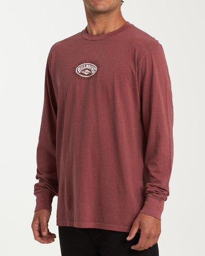 1 Arch Ray Long Sleeve T-Shirt Red MT43WBAR Billabong