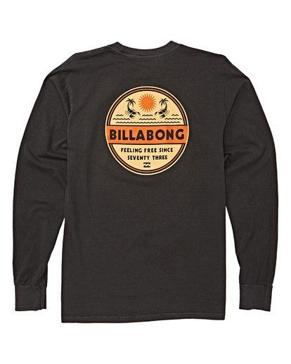 4 Scorpion Palm Long Sleeve T-Shirt Grey MT43WBSC Billabong