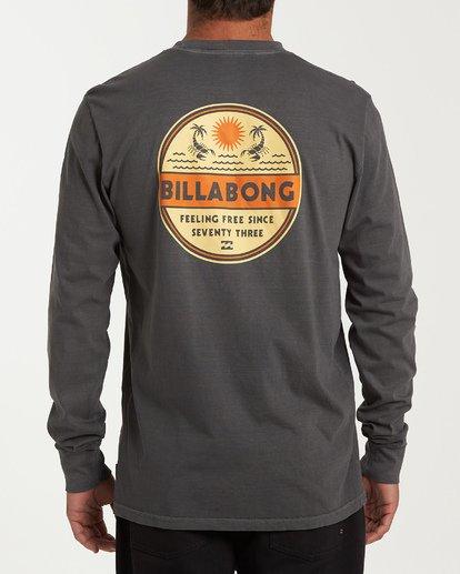 2 Scorpion Palm Long Sleeve T-Shirt Grey MT43WBSC Billabong