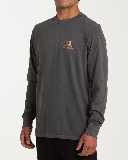 1 Scorpion Palm Long Sleeve T-Shirt Grey MT43WBSC Billabong