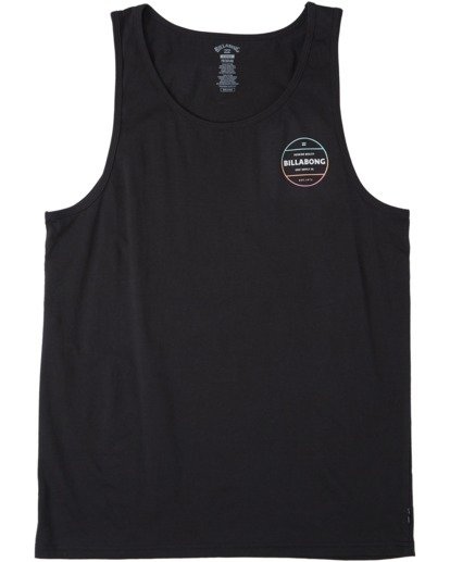 3 Rotor Tank Top Black MT833BRO Billabong