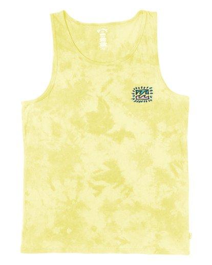 3 Crayon Wave Tank Top Yellow MT853BWC Billabong