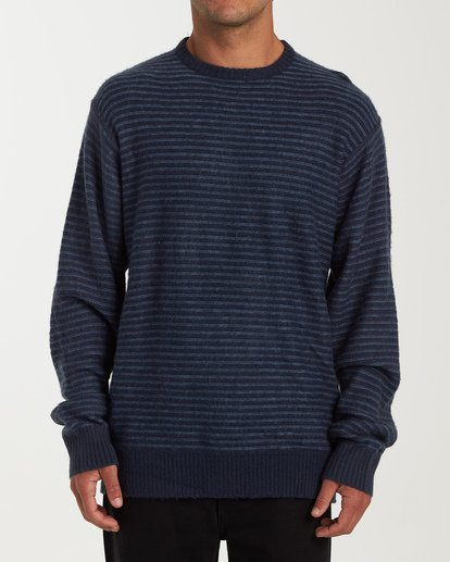 0 Rambler Crewneck Knit Blue MV03VBSC Billabong