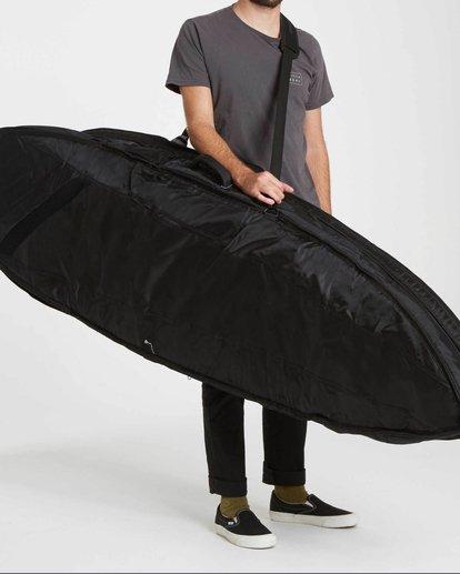 "0 Platinum X Triple Deluxe 6'4"" Convertible Surfboard Bag Black MWDFJT64 Billabong"