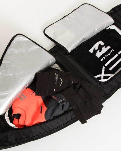 "2 Platinum X Triple Deluxe 6'4"" Convertible Surfboard Bag Black MWDFJT64 Billabong"