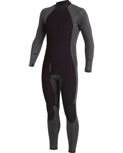 6 4/3 Absolute Back Zip Wetsuit Blue MWFU3BA4 Billabong