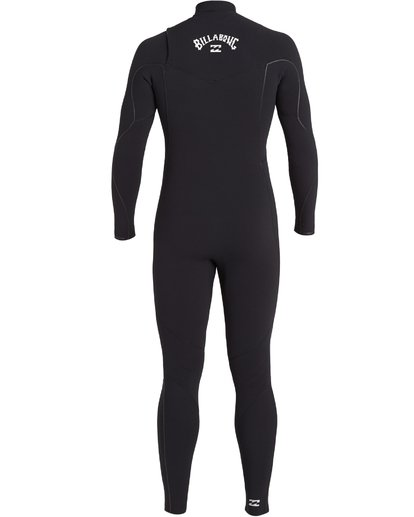 4 3/2 Furnace Comp Chest Zip Wetsuit Black MWFU3BF3 Billabong