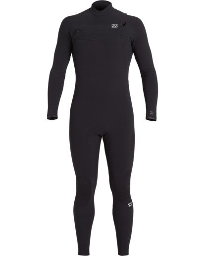 1 3/2 Furnace Comp Chest Zip Wetsuit Black MWFU3BF3 Billabong