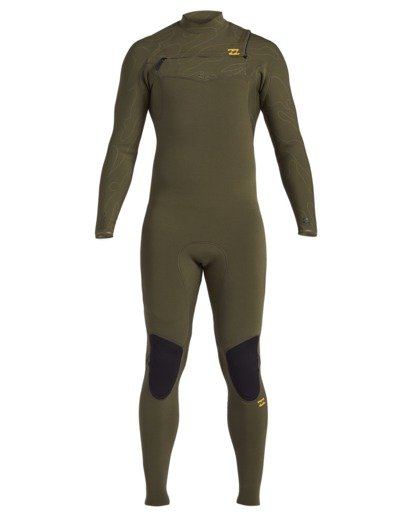 1 3/2 Furnace Comp Chest Zip Wetsuit Green MWFU3BF3 Billabong