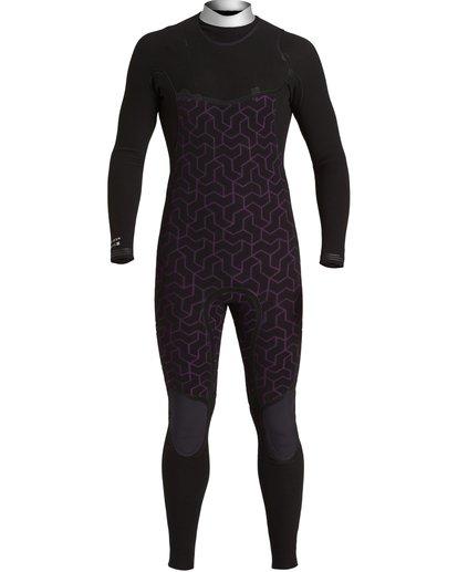 7 4/3 Furnace Comp Chest Zip Wetsuit Black MWFU3BF4 Billabong