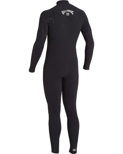 3 4/3 Furnace Comp Chest Zip Wetsuit Black MWFU3BF4 Billabong