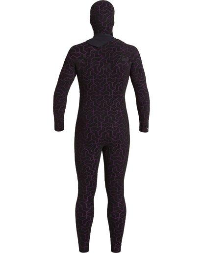 7 6/5 Furnace Hooded Full Wetsuit Black MWFU3BH6 Billabong