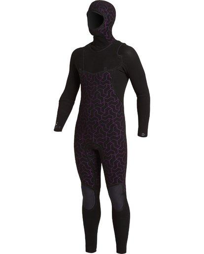 4 4/3 Furnace Comp Hooded Full Wetsuit Black MWFU3BO4 Billabong