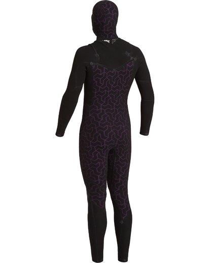 6 4/3 Furnace Comp Hooded Full Wetsuit Black MWFU3BO4 Billabong