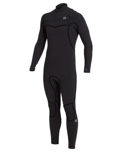 1 4/3 Furnace Chest Zip Wetsuit Black MWFU3BU4 Billabong