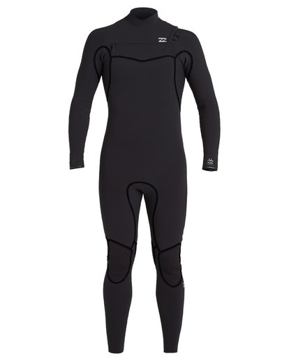 1 4/3 Furnace Chest Zip Wetsuit Black MWFU3BU4 Billabong