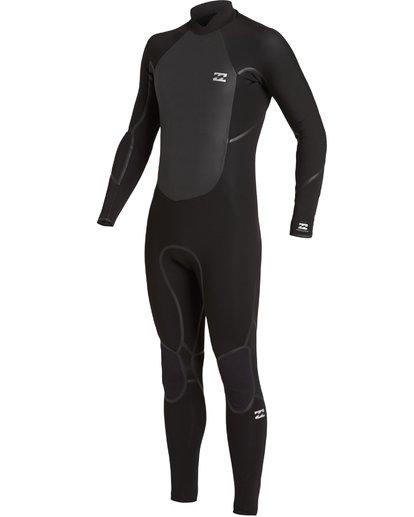 0 4/3 Absolute+ Back Zip Wetsuit Black MWFU3BX4 Billabong
