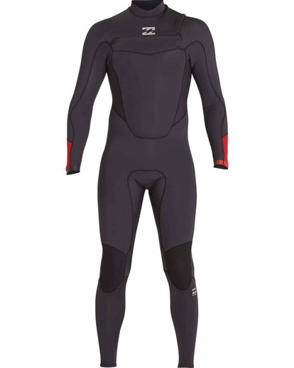 1 4/3 Absolute Comp Chest Zip Fullsuit Black MWFULAC4 Billabong