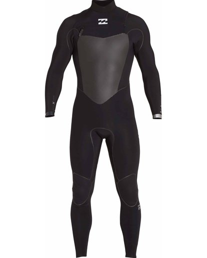 1 3/2 Furnace Carbon X Chest Zip Wetsuit Black MWFULCX3 Billabong
