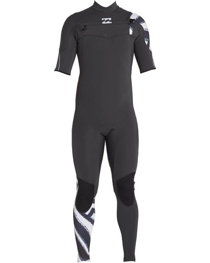 1 202 Furnace Carbon Comp Short Sleeve Fullsuit Black MWFULFC2 Billabong