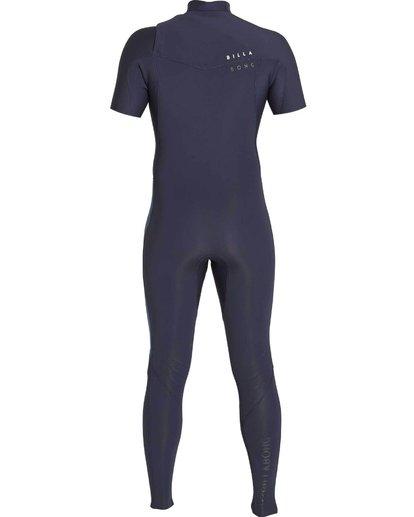 1 202 Revolution Tribong Short Sleeve Chest Zip Wetsuit Grey MWFULRC2 Billabong