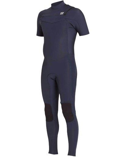 0 202 Revolution Tribong Short Sleeve Chest Zip Wetsuit Grey MWFULRC2 Billabong