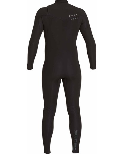4 302 Revolution Tribong Chest Zip Fullsuit Black MWFULRC3 Billabong