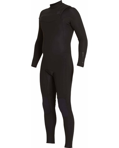 0 302 Revolution Tribong Chest Zip Fullsuit Black MWFULRC3 Billabong