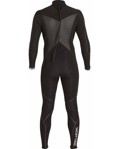 4 4/3 Absolute X Back Zip Fullsuit Black MWFULXB4 Billabong