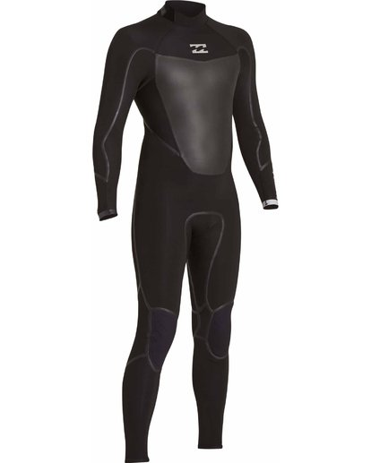 2 4/3 Absolute X Back Zip Fullsuit Black MWFULXB4 Billabong