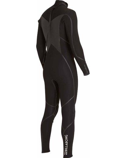 3 4/3 Absolute X Back Zip Fullsuit Black MWFULXB4 Billabong