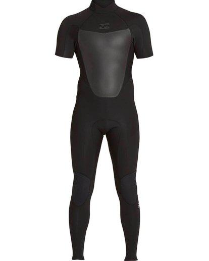 1 2/2 Absolute Comp Back Zip Short Sleeve Springsuit Black MWFUNBG2 Billabong
