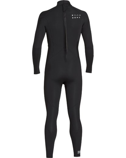 4 3/2 Absolute Back Zip Flatlock Long Sleeve Fullsuit Black MWFUTBL3 Billabong