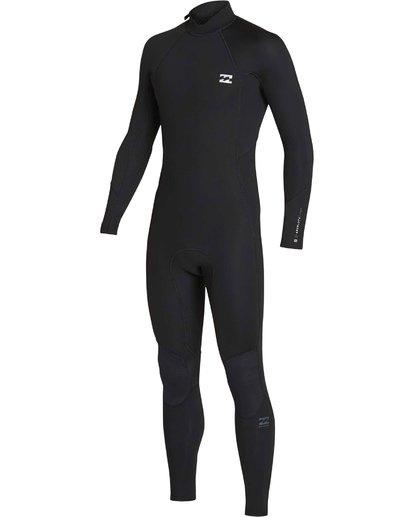 0 3/2 Absolute Back Zip Flatlock Long Sleeve Fullsuit Black MWFUTBL3 Billabong