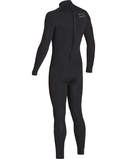 3 3/2 Absolute Back Zip Flatlock Long Sleeve Fullsuit Black MWFUTBL3 Billabong