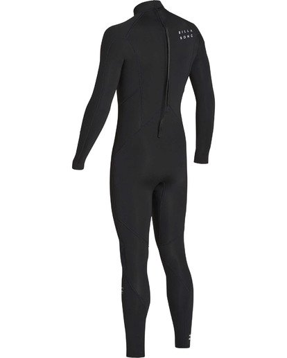 5 3/2 Absolute Back Zip Flatlock Long Sleeve Fullsuit Black MWFUTBL3 Billabong
