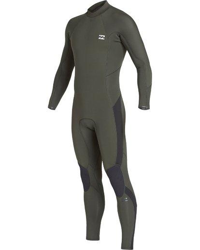 0 3/2 Furnace Absolute Back Zip Long Sleeve Fullsuit Green MWFUVBA3 Billabong