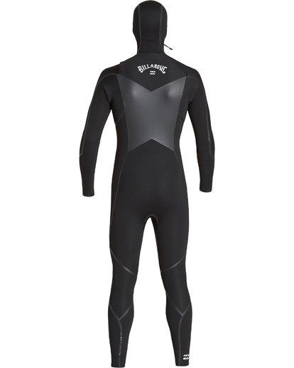 4 5/4 Furnace Absolute X Chest Zip Hooded Fullsuit Black MWFUVBB5 Billabong