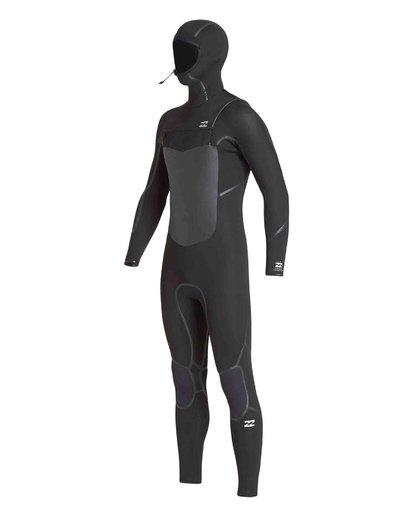 0 5/4 Furnace Absolute X Chest Zip Hooded Fullsuit Black MWFUVBB5 Billabong