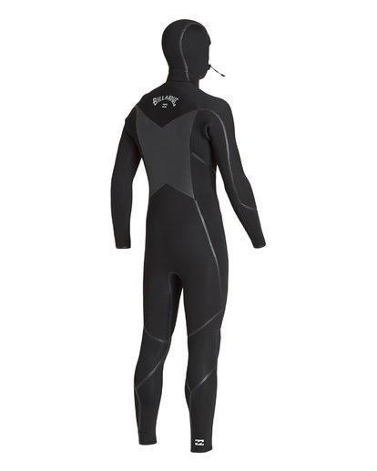 2 5/4 Furnace Absolute X Chest Zip Hooded Fullsuit Black MWFUVBB5 Billabong