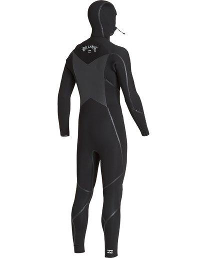 3 5/4 Furnace Absolute X Chest Zip Hooded Fullsuit Black MWFUVBB5 Billabong