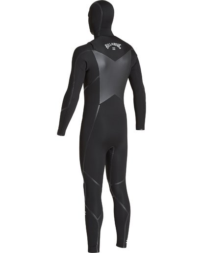 5 5/4 Furnace Absolute X Chest Zip Hooded Fullsuit Black MWFUVBB5 Billabong